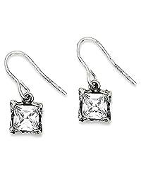 IceCarats 925 Sterling Silver Cubic Zirconia Cz Drop Dangle Chandelier Earrings