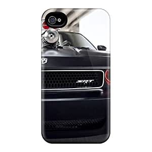 Protective Hard Phone Covers For Apple Iphone 4/4s With Unique Design Colorful Dodge Challenger Image WayneSnook