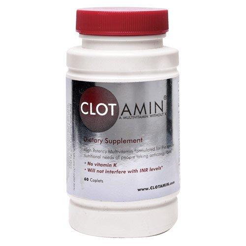 Clotamin Мультивитаминный без витамина K Caplets 60-х годов (№ К) - Упаковка из 2