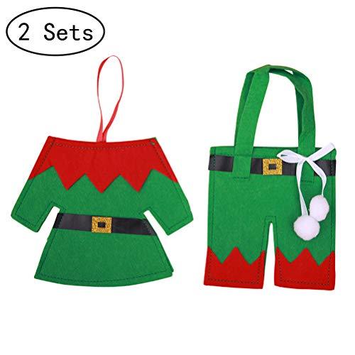 1Buy 2 Sets Creative Christmas Coat and Pant