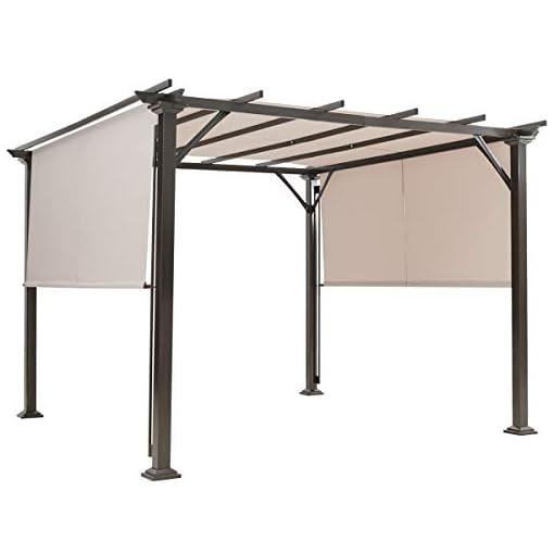 Garden and Outdoor Tangkula 10 X 10FT Outdoor Pergola, Patio Furniture Shade Structure, Outdoor Steel Pergola Gazebo with Retractable… pergolas