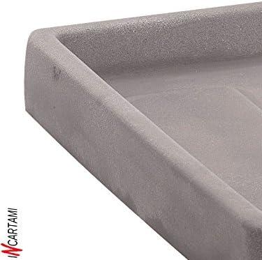 Bianco Nicoli R3480B Evolution Matt stampaggio rotazionale Themis piattino per Vaso di Fiori 80/cm