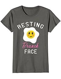 Resting Brunch Face Shirt : Funny Grumpy Breakfast Lunch Egg