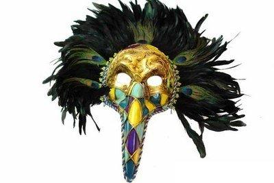 [Masquerade Medico Della Peste Plague Doctor Venetian Mardi Gras Headdress] (Medico Della Peste Costume)