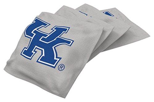 - Wild Sports NCAA College Kentucky Wildcats Gray Authentic Cornhole Bean Bag Set (4 Pack)