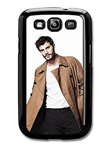 AMAF ? Accessories Christian Grey Jamie Dornan Posing in Brown Coat case for Samsung Galaxy S3