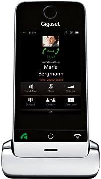 Gigaset SL910H - Teléfono fijo digital (inalámbrico, pantalla táctil, USB), negro y plateado [Versión Importada]: Amazon.es: Electrónica