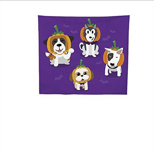 Sunset glow Wall Tapestry Cartoon.jpg Happy.jpg Halloween.jpg Cute.jpg Dogs.jpg Colorful Tapestry 63W x 63L Inch