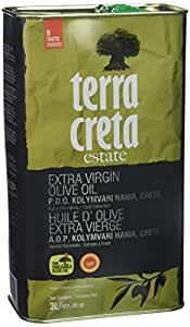 Terra Creta | Award Winning | Kolymvari Estates | 100% Pure Greek Olive Oil | Cold Extracted | Protective Designation of Origin | 3Ltr - (101.4 fl.oz) Tin