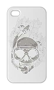 Diver Skull Iphone 5-5s plastic case