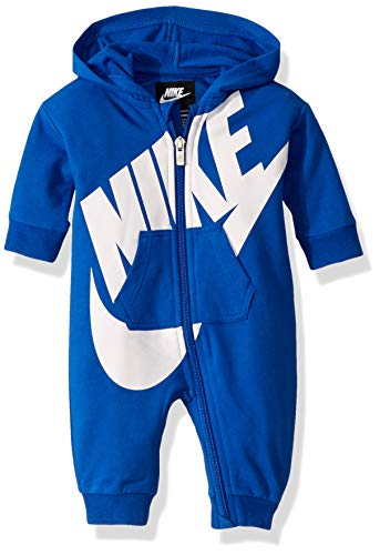 NIKE Children's Apparel Baby Hooded Coverall, Game Royal, 0/3M