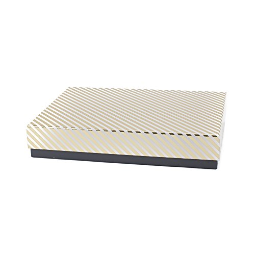 Hallmark Signature Large Gift Box for Birthdays, Anniversaries, Holidays and More (Gold Stripe)