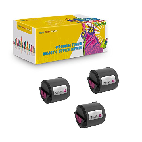 (New York TonerTM New Compatible 3 Pack 106R01272 High Yield Toner for Xerox - Phaser 6110 | 6110MFP . -- Magenta)