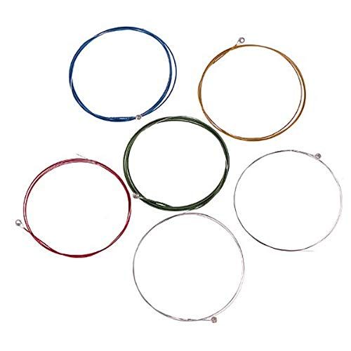 Manouche Guitar Strings Nickel Plated Acoustic Guitar Strings and Testing Is Fine Item Plated Steel Core Colorful Coated Copper Alloy Wound String Gauges in Inches, Light