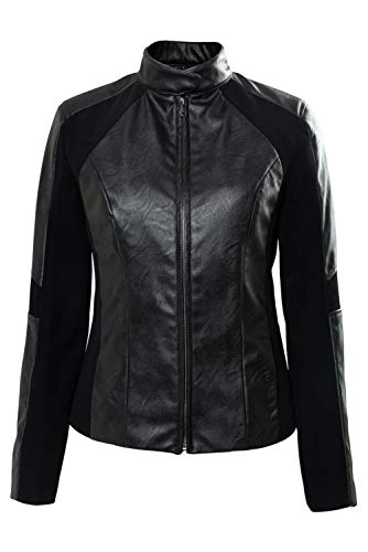 (Mesodyn Halloween Womens Costume Rebecca Ferguson Black Leather Biker)