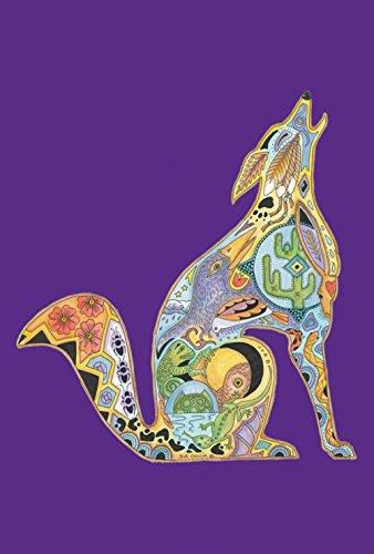 nimal Spirits Howling Wolf 12.5 x 18 Inch Decorative Native Spiritual Desert Wolves Garden Flag ()