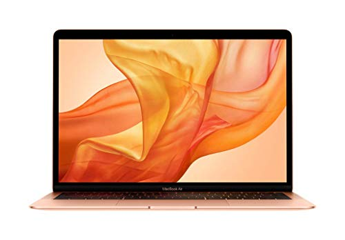 Apple MacBook Air (13-inch Retina display, 1.6GHz dual-core Intel Core i5, 256GB) - Gold (Latest Model) (Laptop Apple Computer)