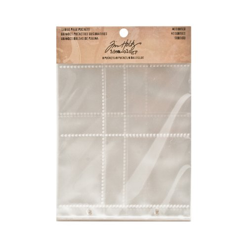 (Large Page Pockets by Tim Holtz Idea-ology, Assorted Configurations, Set of 12, TH93140)