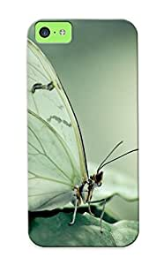 Hot White Butterfly First Grade Tpu Phone Case For Iphone 5c Case Cover