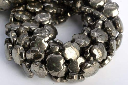 12x10mm Copper Pyrite Cross Flower Grade Natural Gemstone Loose Beads 7.5'' Crafting Key Chain Bracelet Necklace Jewelry Accessories Pendants