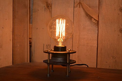 Kiven Steampunk Table Lamp Loft Handicrafted Vintage Table Lights Industrial Home Decor R Retro Lighting