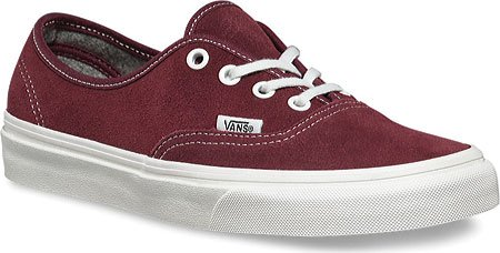 dffeca83b563 Image Unavailable. Image not available for. Color  Vans Authentic Varsity  Suede Red ...