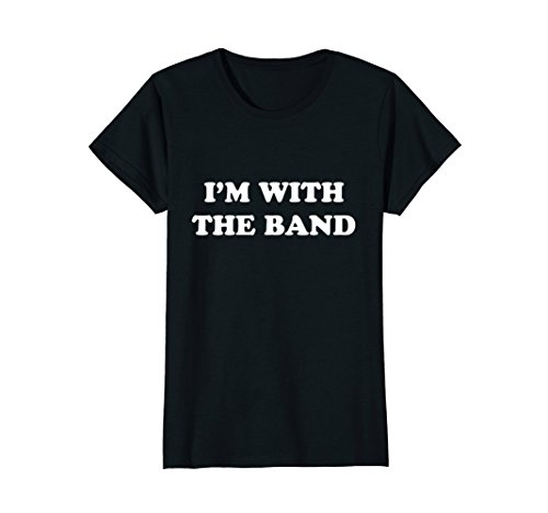 Womens I'm With The Band T-Shirt Rock Star Drummer Tee Shirt Youth Large ()