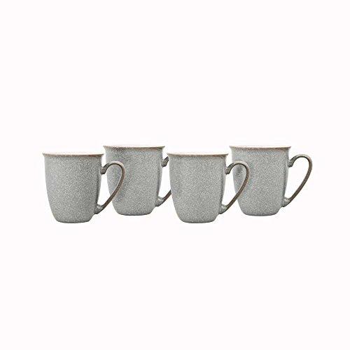 Denby Elements 4 Piece Coffee/Beaker Mug Set, Grey