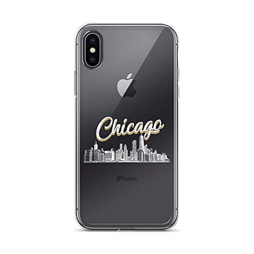 iPhone X/XS Pure Clear Case Crystal Clear Cases Cover Chicago Illinois Skyline Souvenir Transparent