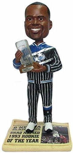 - NBA Orlando Magic Oneal S. #32 Roy Trophy Legends Newspaper Base Bobble Figurine, Blue