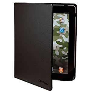 CrazyOnDigital Black Leather Case For Apple iPad