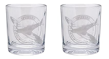 Regalo En Caja Juego De 2 Vasos Para Whisky De Cristal