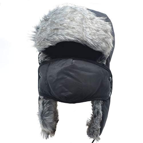 c92618f8d9abe TWFRIC Trapper Hat – Russian Trooper with Ear Flaps and Mask Hats ...