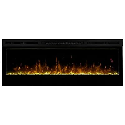 """Pemberly Row 50"""" Wall Mount Electric Insert Fireplace in Black"""