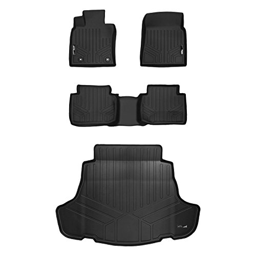 (SMARTLINER Floor Mats 2 Rows and Cargo Liner Set Black for 2018 Toyota Camry Standard Models Only (No Hybrid))