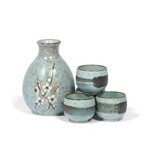 (Japanese 5pc Sake Set, Spring Blossom)