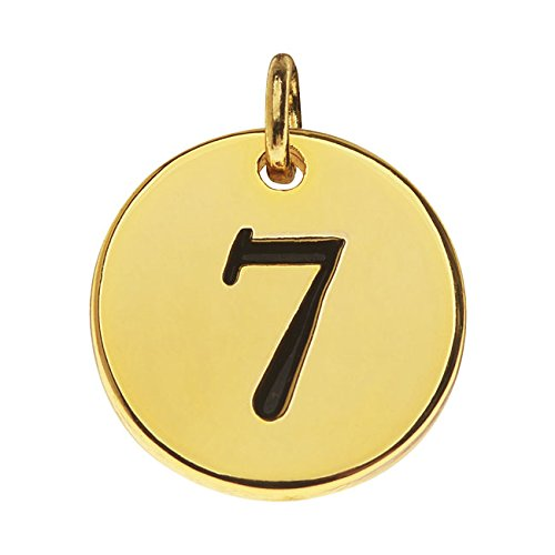 (Beadaholique Lead-Free Pewter, Round Number Charm '7' 13mm, 1 Piece, Gold Plated)