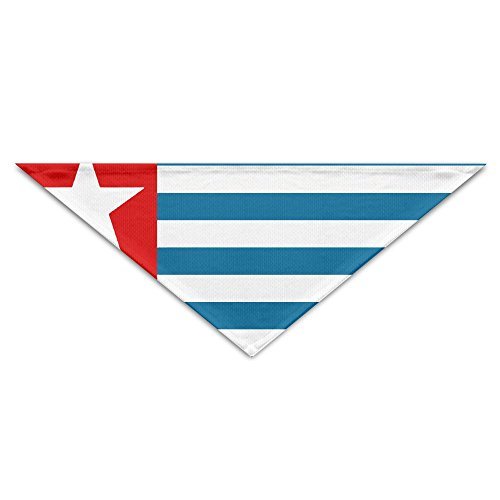 West Papua National Flag Bandana Triangle Neckerchief Bibs Scarfs Accessories For Pet Cats And Baby Puppies The Saliva Dog Towel