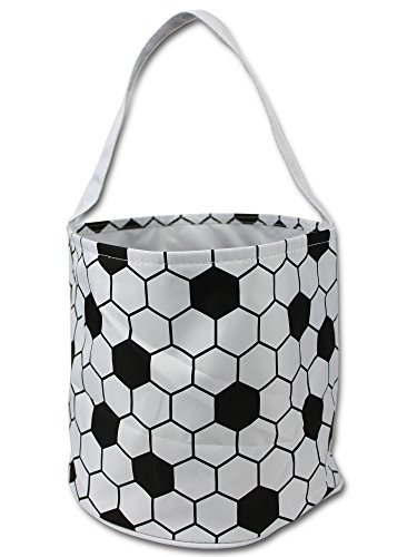 Sporty Soccer Easter Halloween Basket Bucket snack bags children kids (Halloween Baskets To Make)