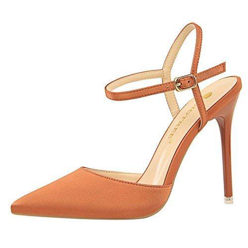 Sandalias de Mujer Mode Aguja Zanpa Red rust 1 Tacon dwXSqxt