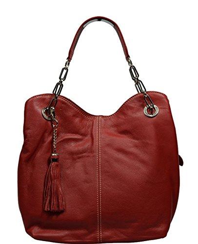 Neue Hand Tasche , Sac pour femme à porter à l'épaule rouge rot