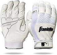Franklin Sports Luvas para rebatedor Shok-Sorb X 20965F4, branco/branco, adulto grande