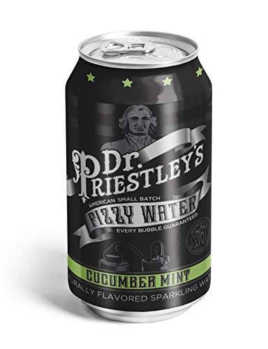 Dr. Priestley's Cucumber Mint Fizzy Water 12 Ounce, 24 Count (Club Soda Or Sparkling Water For Mojitos)