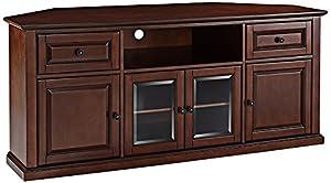 Crosley Furniture 60 Inch Corner TV Stand   Vintage Mahogany