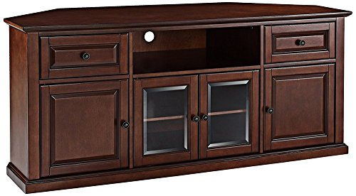 Crosley Furniture 60-inch Corner TV Stand - Vintage Mahogany