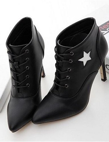 us8 Eu39 Casual Black Mujer Puntiagudos 5 Uk6 Eu36 Xzz Stiletto Tacón 5 Cn39 Botas Uk3 Zapatos Semicuero Black Cn35 Negro De us5 fPn4FpC