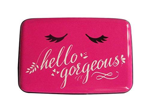 Rfid Credit Card Holder for Women Rfid Blocking Aluminum Metal Wallet (pink)