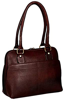 Western Leather Women's Dark Maroon Vintage Handmade Leather Handbags Top Handle Bag