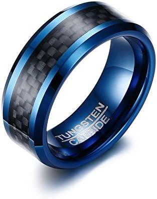 メンズ リング タングステン リング 指輪 カットリング Mens Ring 幅8mm ブラックカーラ 彼氏 父親 兄に誕生日 記念日 プレゼント (21)