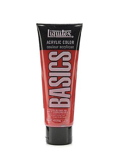 - Liquitex Basics Acrylics Colors cadmium red deep hue 4 oz. tube [PACK OF 3 ]